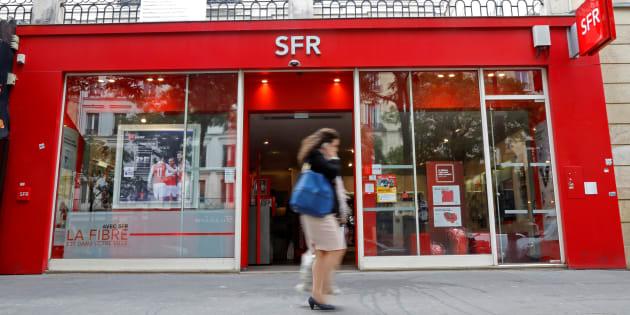 Un magasin parisien SFR en août 2016.