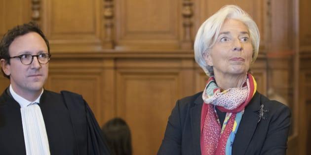 Christine Lagarde lors de l'ouverture de son procès au Palais de Justice de Paris, le 12 décembre