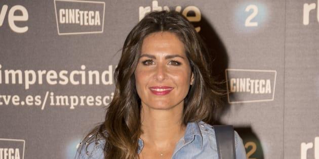 La presentadora Nuria Roca durante la premiere del documental 'Historias para recordar' en Madrid.