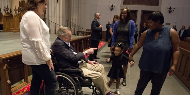 Quatre ex-présidents américains aux obsèques de Barbara Bush