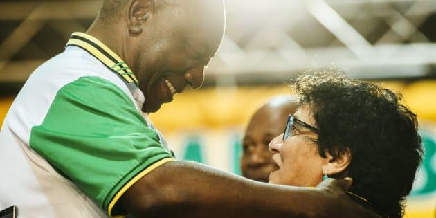 Cyril Ramaphosa and Jesse Duarte.