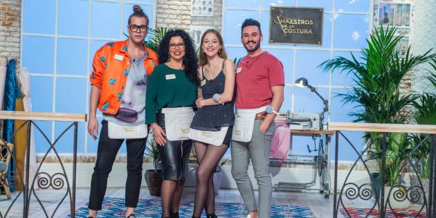 Los cuatro finalistas del concurso: Eduardo, Luisa, Alicia y Antonio.