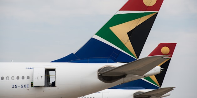 The logo of South African Airways.