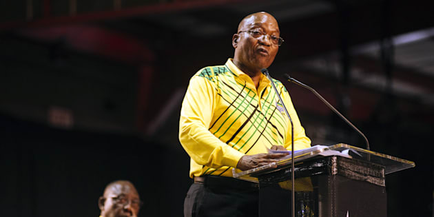 President Jacob Zuma speaks at the 54th national conference of the African National Congress party (ANC) in Johannesburg, South Africa, on Saturday, Dec. 16, 2017.