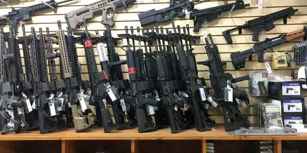 Des armes semi-automatiques vendues dans un magasin de Las Vegas. (Archives)