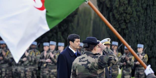 Le ministre des anciens combattants Tayeb Zitouni lors d'une cérémonie à Douaumont, dans l'est de la France, en janvier 2016