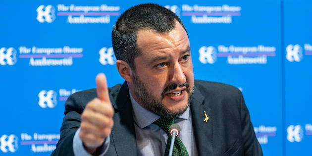 Matteo Salvini, Italy's deputy prime minister speaks during the�Ambrosetti�Forum in Cernobbio, Italy, on Saturday, Sept. 8, 2018. The European House-Ambrosetti hosts its annual gathering of policy makers, government ministers and economists at Lake Como through Sept. 9. Photographer: Federico Bernini/Bloomberg via Getty Images
