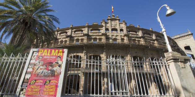 Fachada de la plaza de toros de Palma, en una imagen de archivo.