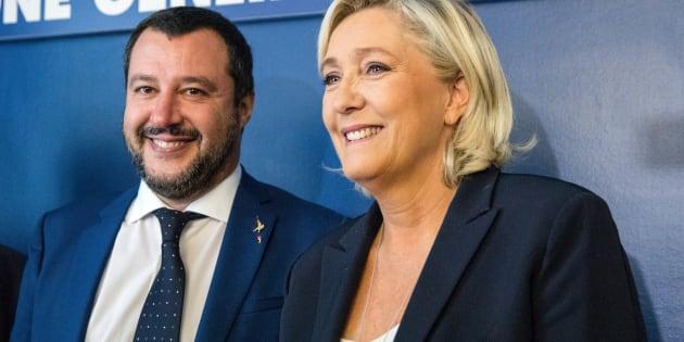 Salvini e Le Pen pronti a sconfiggere 'i nemici dell'Europa'