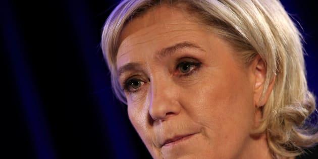 Marine Le Pen, lors d'une conférence à Paris en janvier 2017 REUTERS/Jacky Naegelen