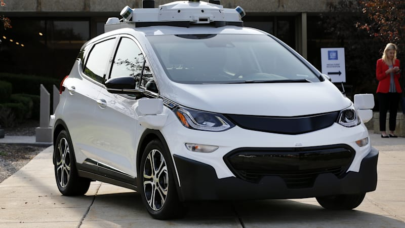 chevrolet-bolt-with-av-technology-is-displayed-outside-of-the-general-picture-id695614232