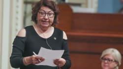 La députée caquiste Claire Samson s'excuse après une rencontre dans une
