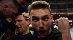 La alegría de ser 'sepultado' por la selección de Croacia