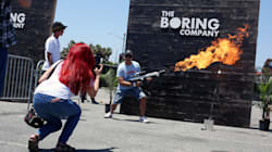 Elon Musk Company Hands Out 'Fun' Flamethrowers In Scorched