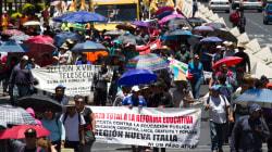 La CNTE llega a CDMX, llama a paro nacional y acampa en