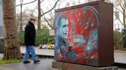 Hommage sobre aux victimes des attentats djihadistes de janvier 2015 à