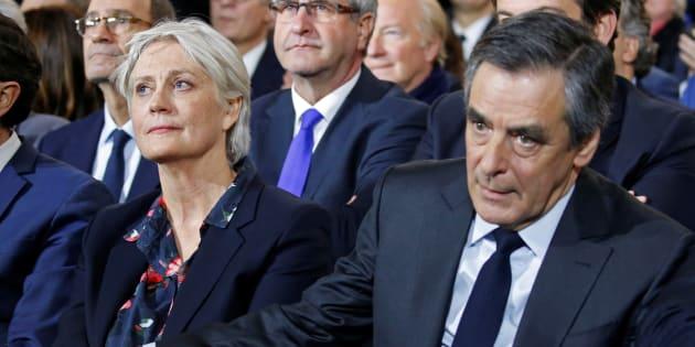 Francois et Penelope Fillon en meeting à Paris en janvier 2017.