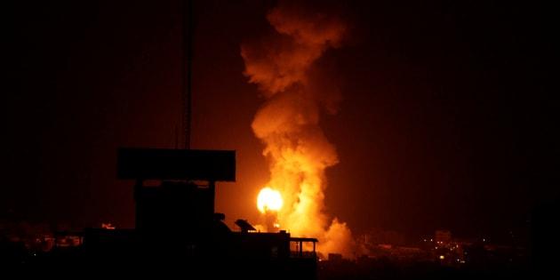 Explosion pendant un raid israélien à Gaza au mois d'août. Photo d'illustration.