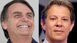 Bolsonaro tem 55% e Haddad, 45%, no último Datafolha antes do 2º