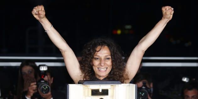 Houda Benyamina à Cannes le 22 mai 2016.