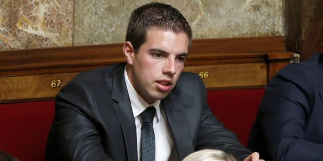 Ludovic Pajot à l'Assemblée nationale lors des questions au gouvernement, le 12 juillet.