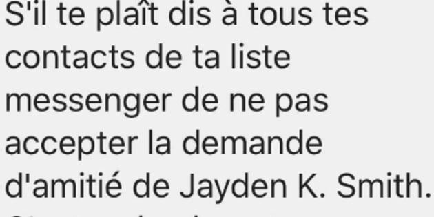 Jayden K Smith est un canular sans gravité