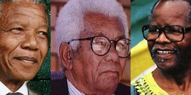 From left: Nelson Mandela, Oliver Tambo and Walter Sisulu.