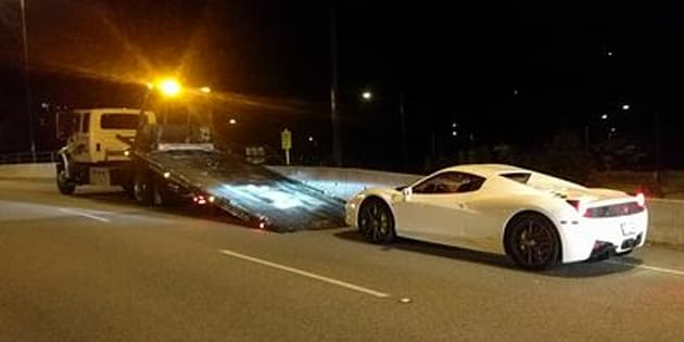 Police impound Ferrari clocked at 210 km/h on Lions Gate Bridge