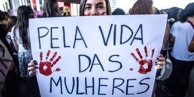 Protesto em São Paulo contra a Proposta de Emenda à Constituição 181 de 2015.