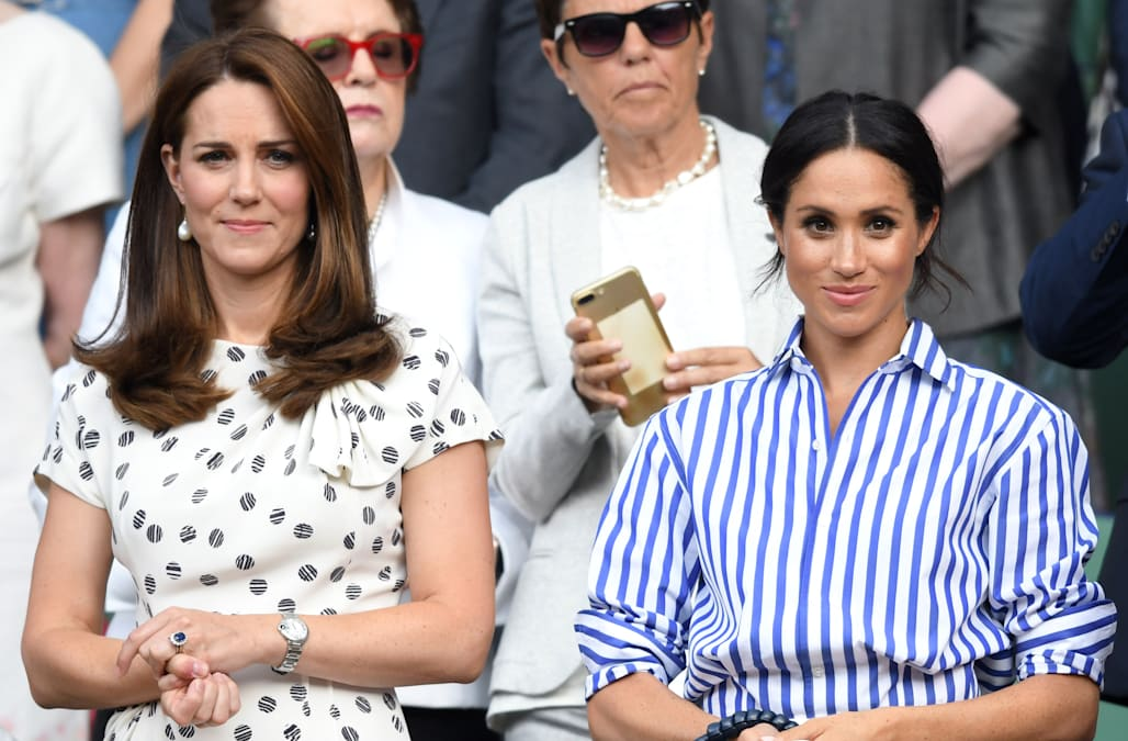 1209332e12900 'Tension' brewing in the royal family: What's going on with Harry, Meghan,  William and Kate?