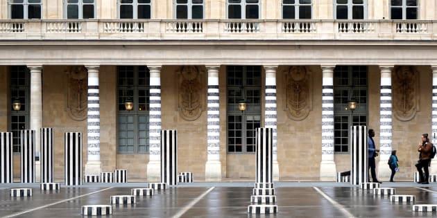 Photo prise le 17 avril de l'installation de l'artiste Le Module de Zeer.
