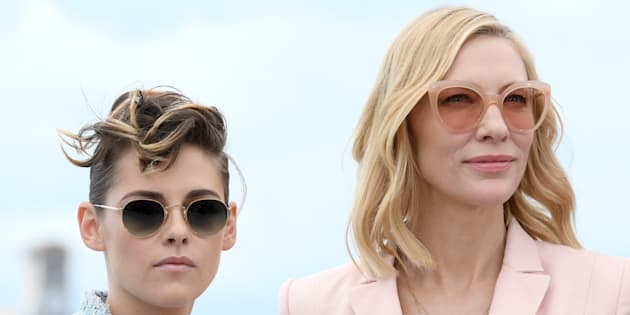CANNES, FRANCE - MAY 08: (L-R) Jury member Kristen Stewart and jury president Cate Blanchett attend the photocall for Jury during the 71st annual Cannes Film Festival at Palais des Festivals on May 8, 2018 in Cannes, France.  (Photo by Dominique Charriau/WireImage)