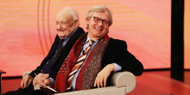 MILAN, ITALY - DECEMBER 04:  Giuseppe e Vittorio Sgarbi attend 'Che Tempo Che Fa' Tv Show on December 4, 2016 in Milan, Italy.  (Photo by Stefania D'Alessandro/Getty Images)
