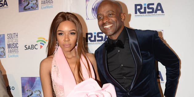 Arthur Mafokate and Cici during the 23rd annual South African Music Awards ceremony at Sun City on May 27.