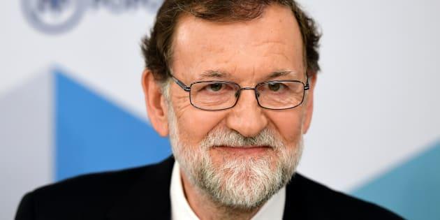 El expresidente del Gobierno, Mariano Rajoy, en la reunión del PP.
