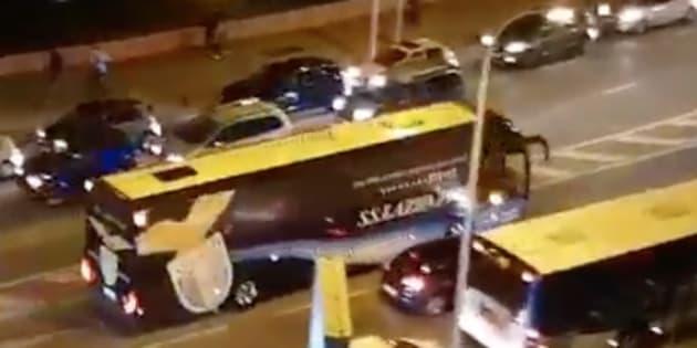 Le bus de la Lazio de Rome a été visé par des projectiles alors qu'il se dirigeait vers le Stade Vélodrome.