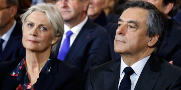 François Fillon et son épouse Penelope Fillon à Paris, le 29 janvier.
