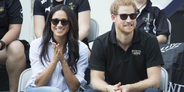 Le Prince Harry et Meghan Markle ensemble à Toronto au Canada.