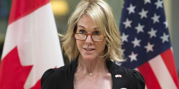Kelly Knight Craft, ici le 23 octobre 2017, a été nommée ambassadrice américaine à l'ONU par Donald Trump.