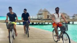 PHOTOS: Ajay Devgn And Kajol Are Beating The Mumbai Heat By Vacationing In