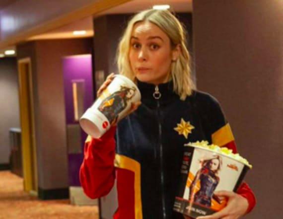 Brie Larson surprises 'Captain Marvel' screening