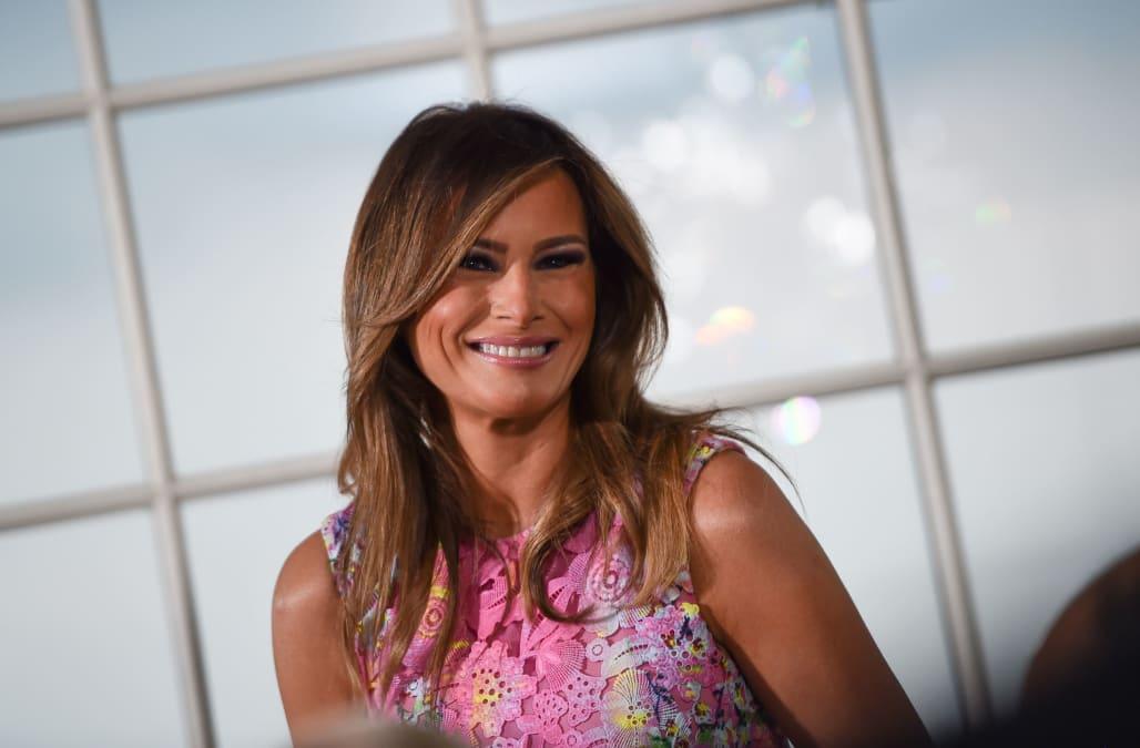 d50b520478 Melania Trump tweets Hurricane Florence concerns