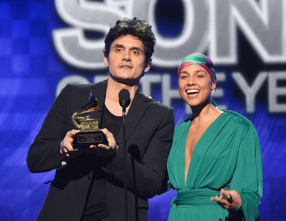 John Mayer gave Alicia Keys half his '05 GRAMMY