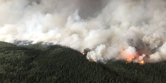 The South Stikine River fire burns in an Aug. 6, 2018 handout photo provided by the BC Wildfire Service.