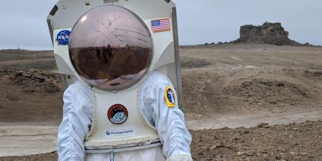Des chercheurs du projet Haughton-Mars sur l'île Devon.