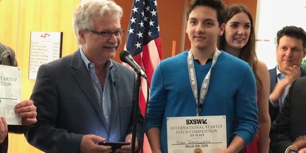 Julián Ríos, fundador de Higia Technologies, fue el ganador del primer lugar del 'pitch' de startups de Casa México en el marco del festival South by Southwest en Austin, Texas.