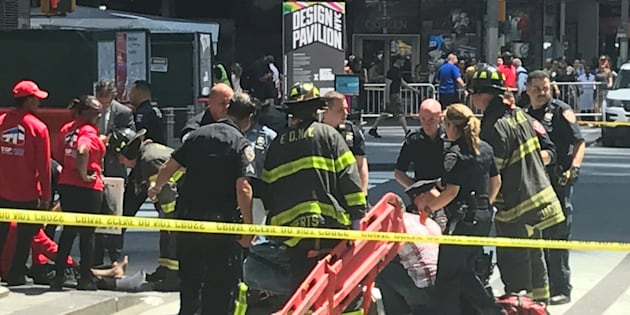 Dan a conocer video del accidente en Times Square
