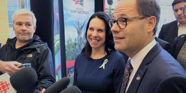 Le président de l'Union des municipalités du Québec, Alexandre Cusson, et la mairesse de Montréal Valérie Plante.