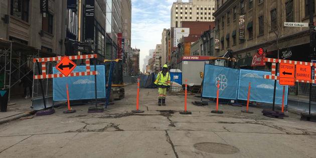 Les nombreux chantiers qui charcutent Montréal auront porté fruit.
