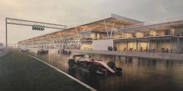 Le nouveau paddock du circuit Gilles-Villeneuve — Photos